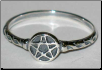 Pentagram Ring (Size 8) Sterling Silver