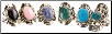 Stone adjustable ring (various)