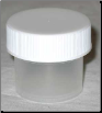 Plastic Wide Top Bottle 1/4 oz ( )