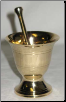 Brass Mortar & Pestle Set   2 3/4""