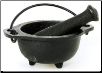 Cast Iron Cauldron Mortar and Pestle Set
