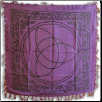 "Purple Triquetra altar cloth 36""x36"""