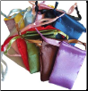 "Mixed Colors Satin Drawstring Pouches 12 Pack 1 3/4"" x 2"""
