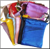 "Mixed Colors Satin Drawstring Pouches  12 Pack 2 3/4"" x 3"""