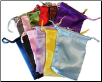 "Mixed Colors Satin Drawstring Pouches 12 Pack 3"" x 4"""