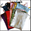 "Mixed Colors Satin Drawstring Pouches  12 Pack 5"" x 6"""