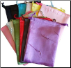"12 pk 6"" x 8"" Satin pouches mixed colors"