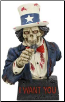 Skull Uncle Sam Statue 7 1/2""