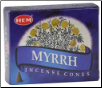 Myrrh HEM Cone Incense 10 Pack