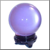 Lavender Crystal Ball 75 mm