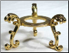Gold Plated Flower Crystal Ball Stand