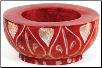 Red Stone Tealight or Cone Incense Burner