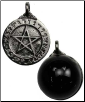 Theban Pentagram with Scrying Disk Pendant