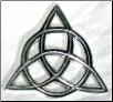Triquetra open  Cut Altar Tile 3""
