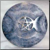 Soapstone Triple Moon Altar Tile 3""