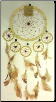 Tan Dream Catcher  6 1/4""