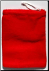 "Red Cotton Bag  3"" x 4"""