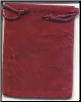 Burgundy Velveteen Bag