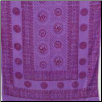"Om Purple Prayer Shawl   44""x 87"""